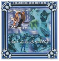 Mozambique 2001 - Jeux Olympiques Salt Lake City 2002 S/s - Michel 1984 BL92, Scott 1443. - Mozambique