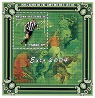 Mozambique 2001 - Euro 2004 Portugal S/s - Michel 1963 BL89, Scott 1422 G. - Mozambique