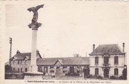 Cpa -44-st Sebastien Sur Loire-square , Mairie-monument Aux Morts 14/18-edi Nozais N°1 - Saint-Sébastien-sur-Loire