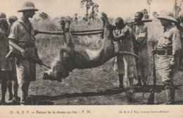 Afrique Equatoriale - Retour De La Chasse Au Lion. CI De La 2ème Exp. Citroën Centre-Afrique - Centrafricaine (République)