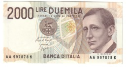 Italy 2000 Lire Marconi UNC / FDS - [ 2] 1946-… : Républic