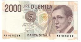 Italy 2000 Lire Marconi UNC / FDS - [ 2] 1946-… : Republiek