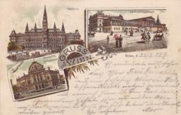 Wien * Lithographie, Mehrbild * Österreich * AK625 - Vienna Center