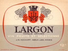 Etiket Etiquette - Vin - Wijn - Largon - J.M.Hochart - Noeux Les Mines - Labels