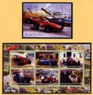 AUTOMOBILES  FORMULE 1 - 2 BLOCS FEUILLETS DE 1 ET 6 VIGNETTES NEUVES ** - Automobile - F1