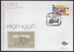Postal Car , Bosnia, FDC, 1996 - Cars