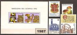 Andorra 195/202 ** 1987 Año Completo - Spanish Andorra