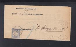 Dt. Reich Polen Poland Postbehändigungsschein Bobau 1872 - Deutschland