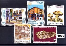 Andorra 218/222 ** 1990 Año Completo - Andorra Española