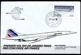 PREMIER JOUR SUPERSONIQUE CONCORDE ACHEMINE A BORD, 1er VOL RIO DE JANEIRO-PARIS, 21 JANVIER 1976 - Concorde