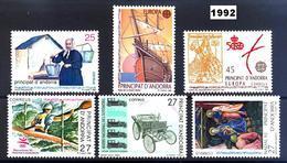 Andorra 229/234 ** 1992 Año Completo - Andorra Española