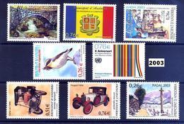 Andorra 304/311 ** 2003 Año Completo - Andorra Española