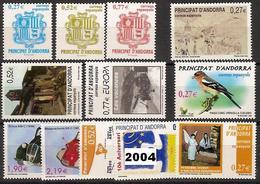 Andorra 312/323 ** 2004 Año Completo - Andorra Española