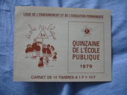 Erinnophilie Carnet Ecole Publique 1979 Vignette Timbre - Erinnofilia