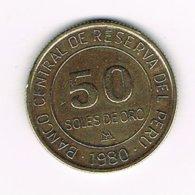 //  PERU  50  SOLES DE ORO  1980 - Peru