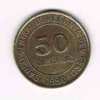 //  PERU  50  SOLES DE ORO  1980 - Pérou