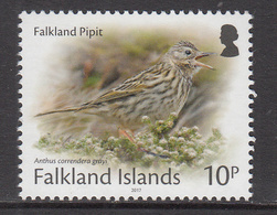 2017 Falkland Islands 10p Pipit Bird Definitive REPRINT  Complete Set Of 1 MNH - Falkland Islands