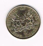 //  KENIA  5 CENTS  1968 - Kenya