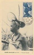Carte Maximum  - Afrique Occidentale - Femme Foulah - Guinée Française