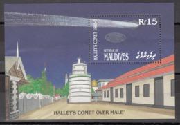 MALDIVES, 1986  Yvert Nº HB 114  MNH, Cometa Halley - Asie