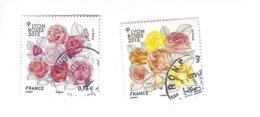 Congrès Mondial Des Sociétés De Roses 2015 à Lyon 4957-4958 Oblitérés - France