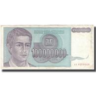 Billet, Yougoslavie, 100,000,000 Dinara, 1993, KM:124, TB+ - Yougoslavie