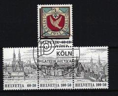 SCHWEIZ - Mi-Nr. 1554 - 1557 - Innenleben Aus Block 27 - Nationale Briefmarkenausstellung BASLER TAUBE '95, Gestempelt - Gebraucht