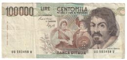 Italy 100000 Lire Caravaggio 1 Type - [ 2] 1946-… : République