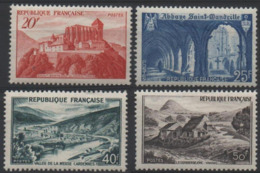 FRANCE  841A 842 842A 843 ** MNH Comminges St-Wandrille Meuse Gerbier De Jonc Paysages Sites 1949 - Unused Stamps