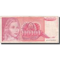 Billet, Yougoslavie, 100,000 Dinara, 1989, KM:97, B+ - Yougoslavie