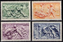 FRANCE 859 à 862 ** MNH Série Des Saisons Bas-reliefs Fontaine De Bouchardon Rue Grenelle à Paris - Unused Stamps
