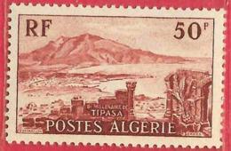Algérie N°327 50F Brun-rouge 1955 ** - Neufs