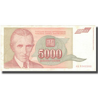 Billet, Yougoslavie, 5000 Dinara, 1993, KM:128, TB+ - Yougoslavie