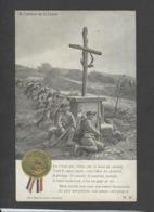 Themes Div-ref CC206- Guerre 1914-18- Religion -la Croix - Medaillon Et Veritables Petits Rubans -chasseurs Alpins - - Guerre 1914-18