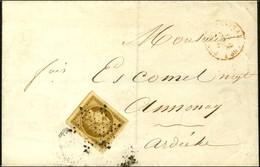 Etoile / N° 1 Bistre Brun Exceptionnelles Marges Càd Rouge BUREAU CENTRAL (60) Sur Imprimé Complet Pour Annonay. 1853. - - 1849-1850 Ceres