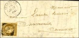 PC 689 / N° 1 Filet Effleuré Càd T 14 CHABANAIS (15) Sur Lettre Locale Pour Chasseneuil. 1853. - TB. - R. - 1849-1850 Cérès