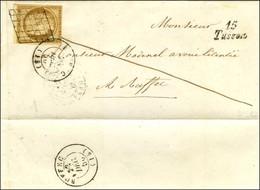 Grille / N° 1 (filet Inférieur Effleuré) Càd T 15 RUFFEC (15), Cursive 15 / Tusson Sur Lettre Locale. 1850. - TB. - 1849-1850 Ceres