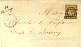Grille / N° 1 Belles Marges Cursive 24 / Nancray Dateur B. 1851. - SUP. - R. - 1849-1850 Cérès