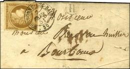 Càd T 15 BOURBONNE-LES-BAINS 50 / N° 1 Belles Marges B. RUR. H Sur Lettre Avec Texte Daté De La Rivière Le 7 Février 185 - 1849-1850 Cérès
