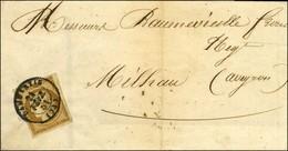 Càd T 15 DAMMARTIN (73) / N° 1 Belles Marges Sur Imprimé Pour Millau. 1851. - TB / SUP. - R. - 1849-1850 Cérès