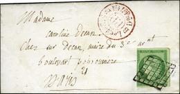 Grille / N° 2 Def Càd Rouge P.P. Sur Lettre Avec Texte De Paris Pour Paris. 1850. - TB. - R. - 1849-1850 Cérès
