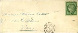Grille / N° 2 Très Belles Marges Càd De Levée E Sur Lettre Avec Texte Daté De Paris Le 13 Décembre 1850 Adressée Localem - 1849-1850 Cérès