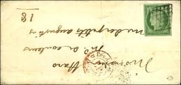 Grille / N° 2 Belles Marges Càd Rouge PP De Levée Sur Lettre De Paris Pour Paris. Au Verso, Càd D'arrivée 1850. - TB. -  - 1849-1850 Cérès