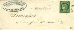 Etoile / N° 2 Très Belles Marges Sur Lettre De Paris Pour Paris. - SUP. - R. - 1849-1850 Cérès