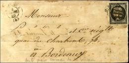 Plume + Càd T 15 St FLOUR (14) 4 JANV. 49 / N° 3 Sur Devant De Lettre Pour Bordeaux. - TB. - R. - 1849-1850 Cérès