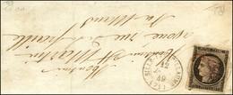 Càd T 15 SILLE-LE-GUILLAUME (71) 12 JANV. 49 + P.P. Rouge / N° 3 Sur Devant De Lettre Pour Le Mans. Très Rare Associatio - 1849-1850 Ceres