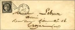 Grille / N° 3 Noir Sur Blanc Petit Bdf Càd T 15 CLERVAUX-S-AUBE (9). 1850. - SUP. - 1849-1850 Cérès