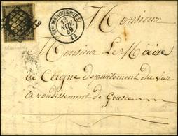 Grille / N° 3 Noir Sur Chamois, Infime Def Càd T 15 Ste MARGUERITE 12. 1849. - TB / SUP. - R. - 1849-1850 Ceres