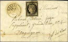 Grille / N° 3 Def Càd T 15 St MARCEL (12). 1850. - TB. - R. - 1849-1850 Ceres