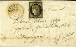 Grille / N° 3 Def Càd T 15 St MARCEL (12). 1850. - TB. - R. - 1849-1850 Cérès